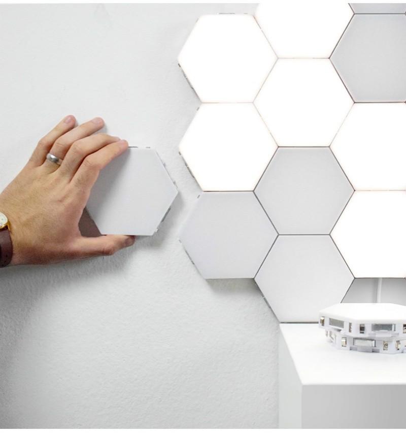 LED Hexagonal Touch Lamp (White)