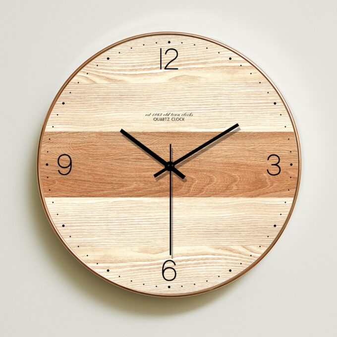 Modern Wooden Wall Clock