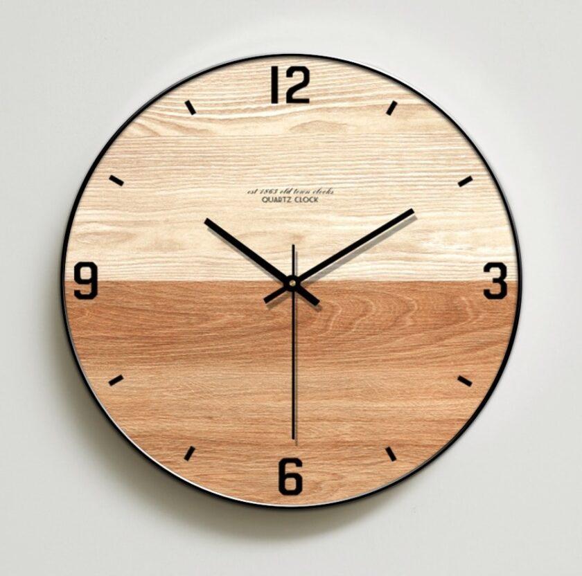 Modern Wooden Wall Clock