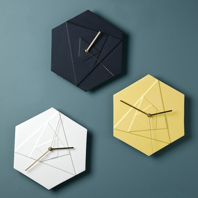 Hexagonal Wall Clock