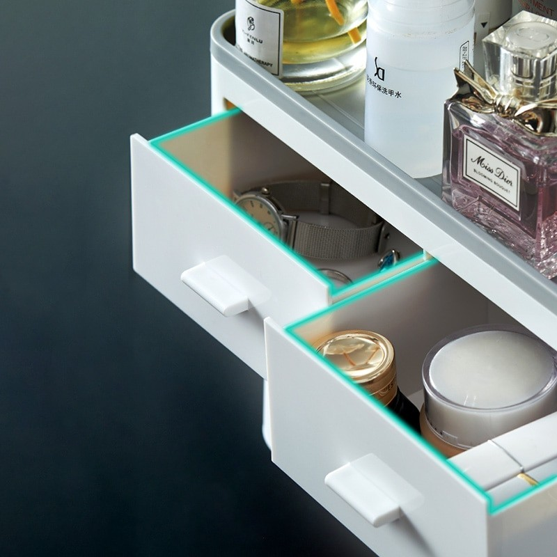 Auto Toothpaste Dispenser and Bathroom Storage Rack